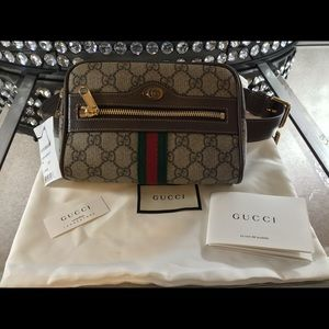 Gucci canvas belt bag, 85 cm adjustable belt, NWT